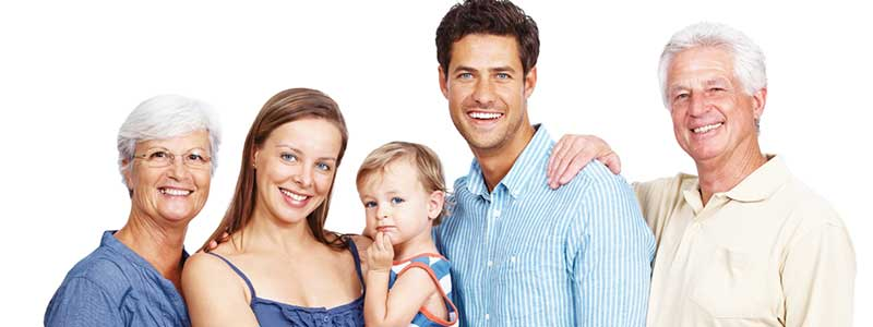 Family smiling after their dental care
